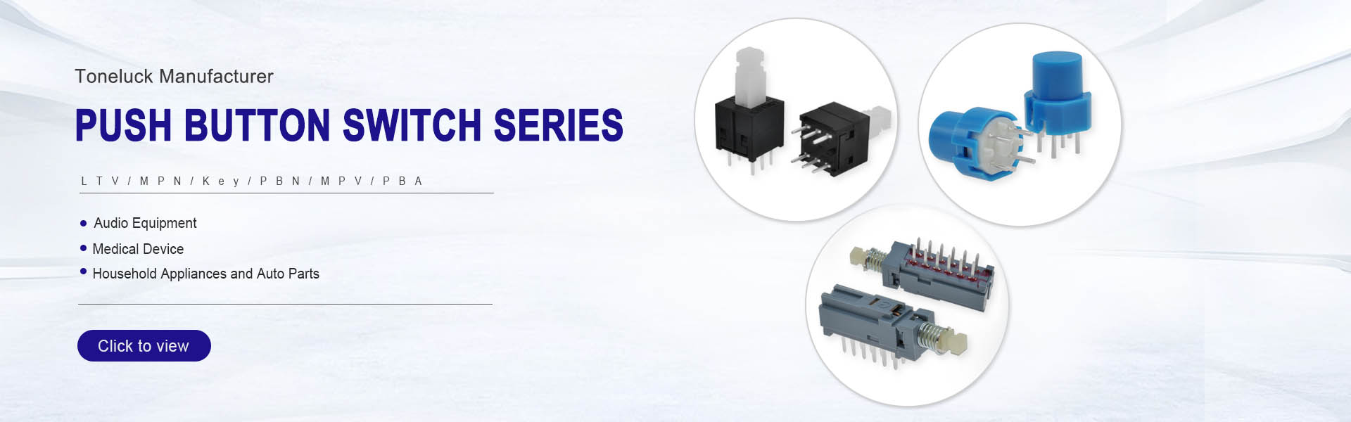 push button switch banner